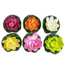 ベトナム 睡蓮(スイレン)の造花(6色 11cm)