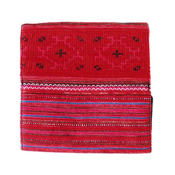 ベトナム 少数民族 モン族 刺繍 長財布(レッド)【画像2】