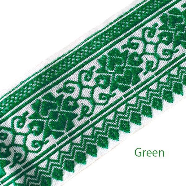 ベトナム チロリアンテープ 刺繍 3色(幅6-6.5cm/1m単位売り)【画像2】