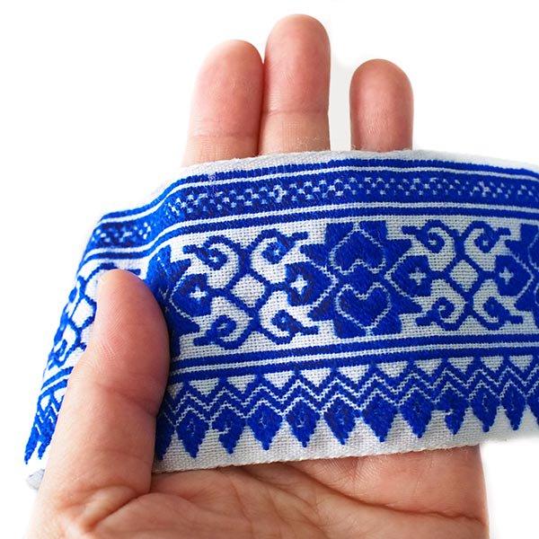 ベトナム チロリアンテープ 刺繍 3色(幅6-6.5cm/1m単位売り)【画像5】