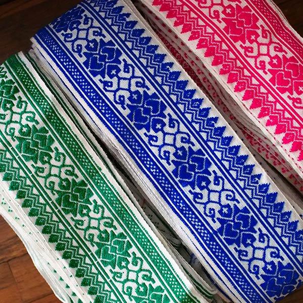 ベトナム チロリアンテープ 刺繍 3色(幅6-6.5cm/1m単位売り)【画像6】