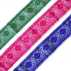 ベトナム チロリアンテープ 3色 刺繍 手芸(幅6-6.5cm/1m単位売り)