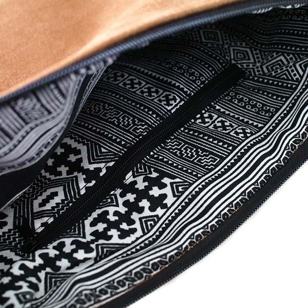 ベトナム 少数民族 黒モン族 刺繍 クラッチバッグ(飾り付き)【画像5】