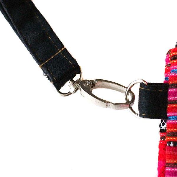 モン族 刺繍 クラッチバッグ(タッセル付き レッド)民族 刺繍 / ベトナム直輸入【画像5】