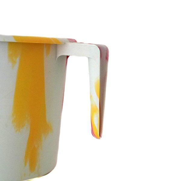 セネガル プラスチックコップ(1リットル ホワイト×レッド)【画像2】