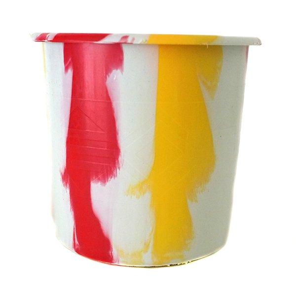 セネガル プラスチックコップ(1リットル ホワイト×レッド)【画像3】