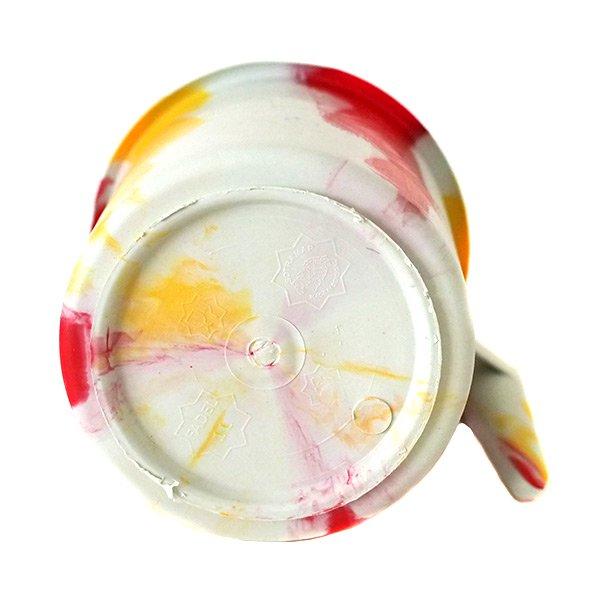 セネガル プラスチックコップ(1リットル ホワイト×レッド)【画像4】