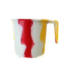 セネガル プラスチックコップ(1リットル ホワイト×レッド)