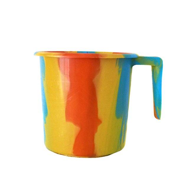 セネガル プラスチックコップ(1リットル イエロー×オレンジ)