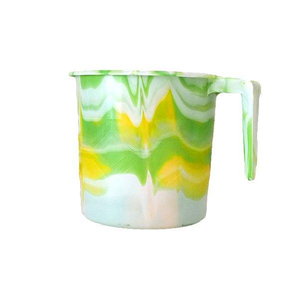 セネガル プラスチックコップ(0.4リットル グリーン)