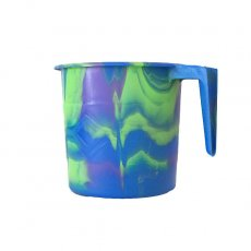アフリカ プラスチック セネガル プラスチックコップ(0.4リットル ブルー)