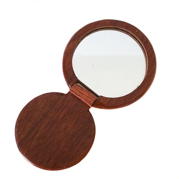 ベトナム 木製 手鏡 ハンドミラー (アオザイ 円形)【画像3】