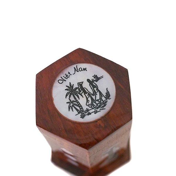 ベトナム 木製 爪楊枝(つまようじ)入れ アオザイ【画像3】