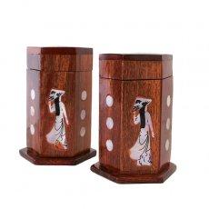 ベトナム 木製 爪楊枝(つまようじ)入れ