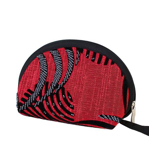 ベトナム ビーズ 刺繍 ポーチ (マチ付き 3色)【画像3】