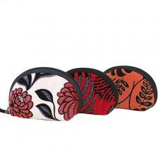 ベトナム 刺繍 ベトナム ビーズ 刺繍 ポーチ (マチ付き 3色)
