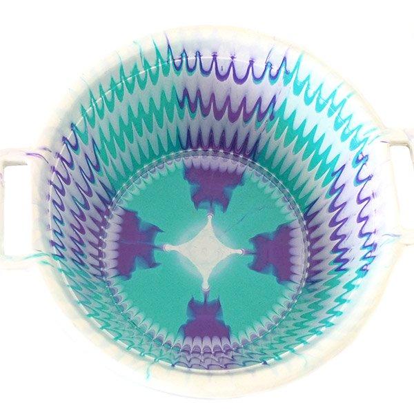 セネガル プラスチック持ち手付きの桶(ブルーグリーン×パープル 12リットル)【画像3】