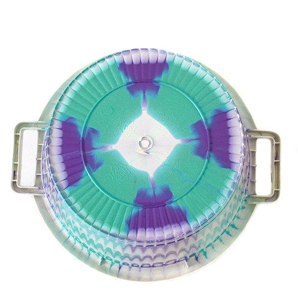 セネガル プラスチック持ち手付きの桶(ブルーグリーン×パープル 12リットル)【画像4】