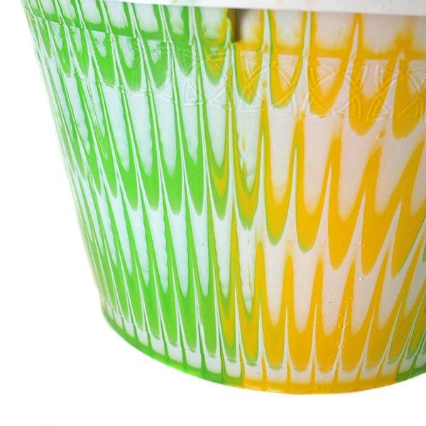 セネガル プラスチック持ち手付きの桶(キミドリ×イエロー 12リットル)【画像2】