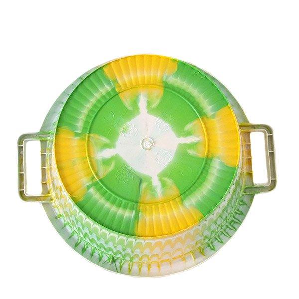 セネガル プラスチック持ち手付きの桶(キミドリ×イエロー 12リットル)【画像4】