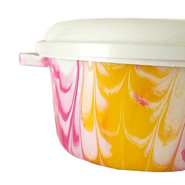 セネガル プラスチック蓋付きの桶(直径 30cm ピンク)【画像2】