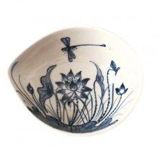 ベトナム バッチャン焼き 蓮の花 (小皿)