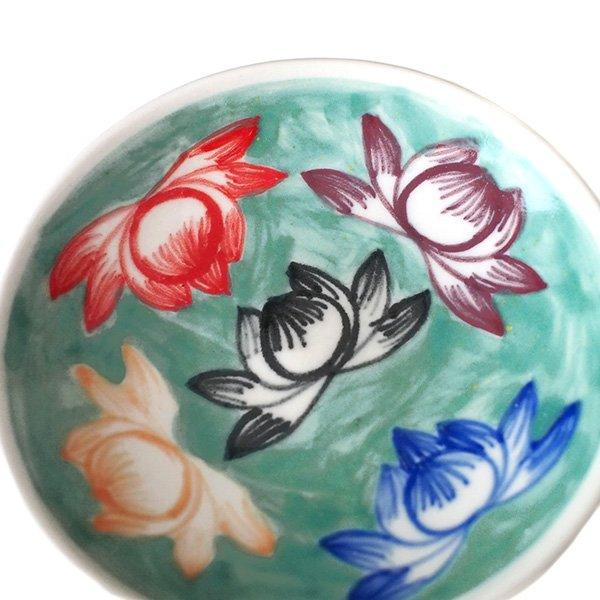 ベトナム バッチャン焼き 蓮の花 (カラフル 丸 小皿)【画像2】