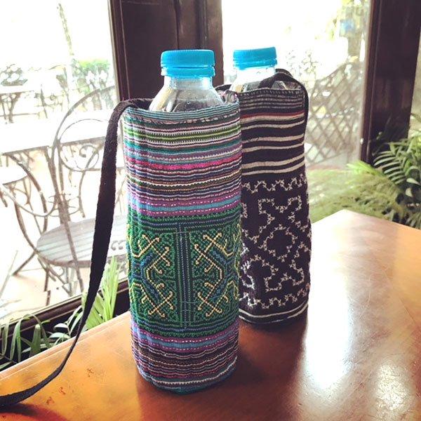 ベトナム 少数民族 モン族 刺繍 ペットボトル フォルダー (500ml)【画像5】