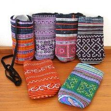 ベトナム 少数民族 モン族 刺繍 ペットボトル フォルダー(500ml)民族 刺繍 / ベトナム直輸入