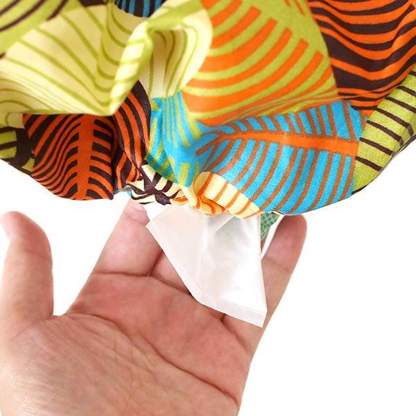 コートジボワール ポリ袋 ストッカー  人形  オレンジ(レジ袋 収納  キッチン)【画像6】