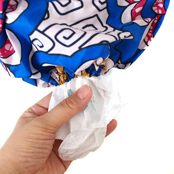 コートジボワール ポリ袋 ストッカー  人形  ブルー(レジ袋 収納  キッチン)【画像6】