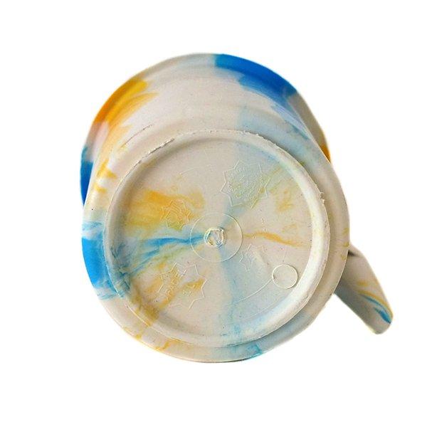 セネガル プラスチックコップ(1リットル ホワイト×ブルー)【画像2】