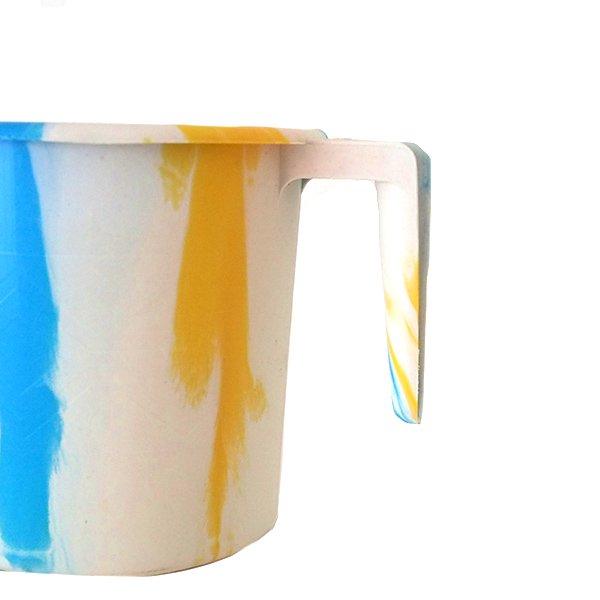 セネガル プラスチックコップ(1リットル ホワイト×ブルー)【画像3】