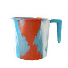 セネガル プラスチックコップ(1リットル ブルー×レッド)