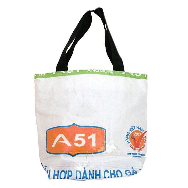 ベトナム 飼料袋 リメイク バッグ(マチ付き ニワトリ 小)【画像2】
