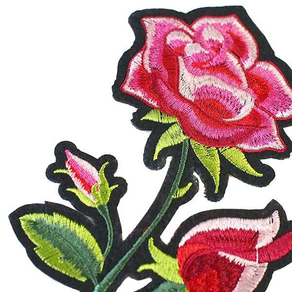 ベトナム  ワッペン(薔薇 ローズ 花 18cm)【画像5】