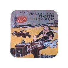 ベトナム プロパガンダ アート コースター(縁 色付き C)