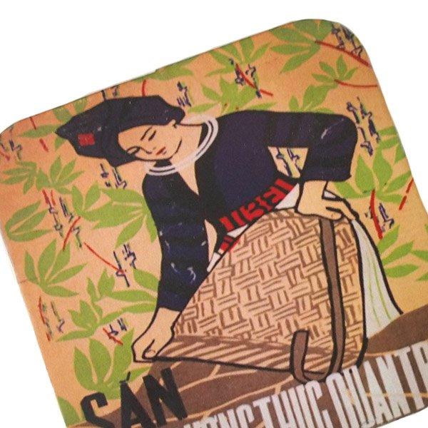 ベトナム プロパガンダ アート コースター(縁 色付き F)【画像2】