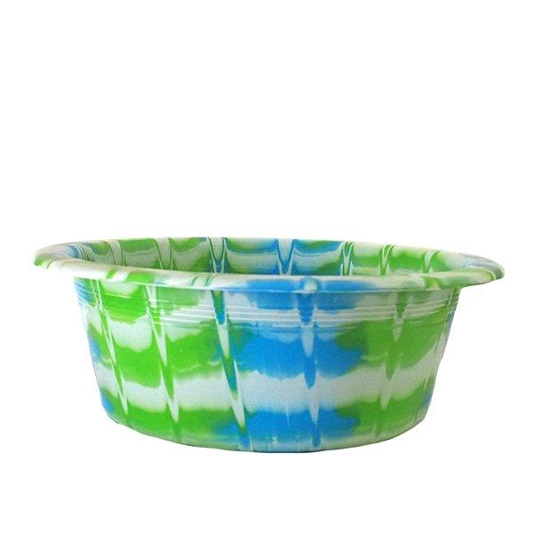 セネガル プラスチック 洗面器(直径 32cm グリーン)