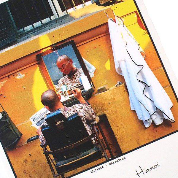 ベトナム ポストカード【ハノイの理髪店】Barber shop, Hanoi【画像2】