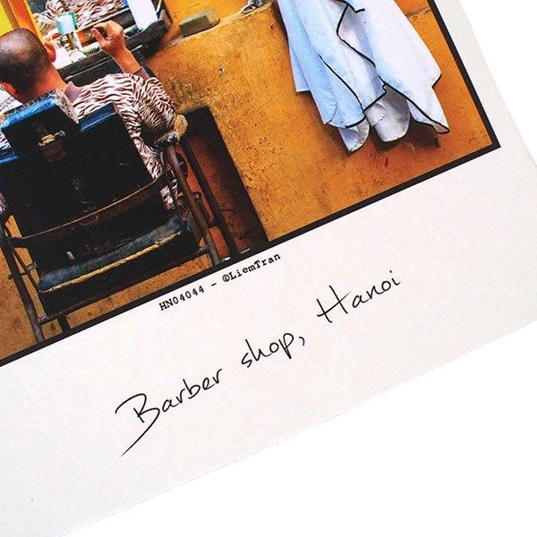ベトナム ポストカード【ハノイの理髪店】Barber shop, Hanoi【画像3】
