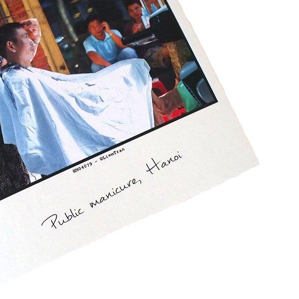ベトナム ポストカード【ハノイの街のお手入れ屋さん】Public manicure, Hanoi【画像3】