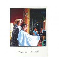 ベトナム ポストカード【ハノイの街のお手入れ屋さん】Public manicure, Hanoi