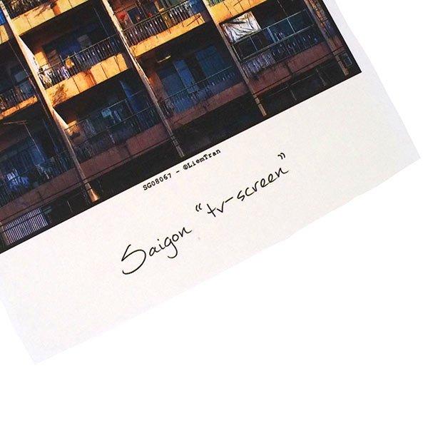 ベトナム ポストカード【サイゴンのテレビスクリーン】Saigon