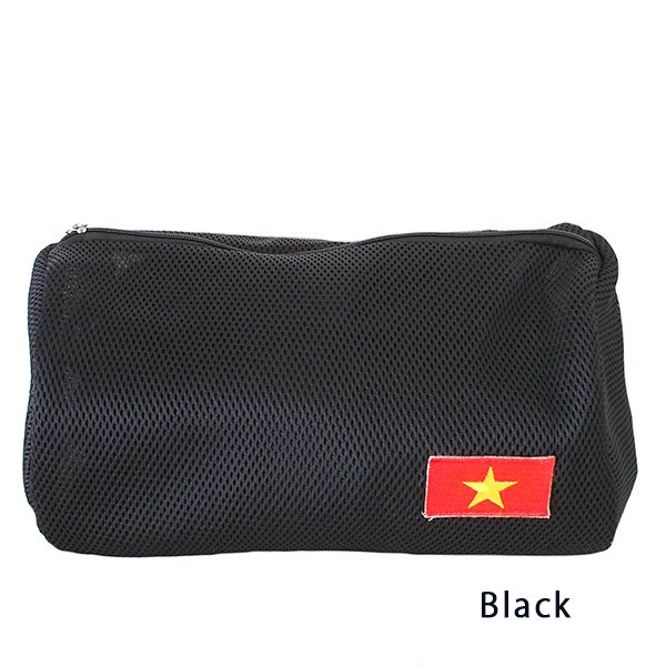 ベトナム 国旗 ワッペン ポーチ (メッシュ素材  3色)【画像3】