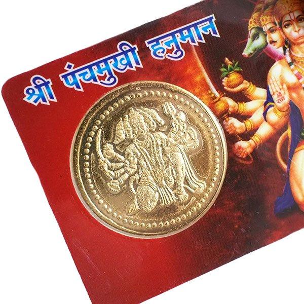 世界のお守り インド  神様カード(金運 ラクシュミー・ハヌマーン)【画像7】