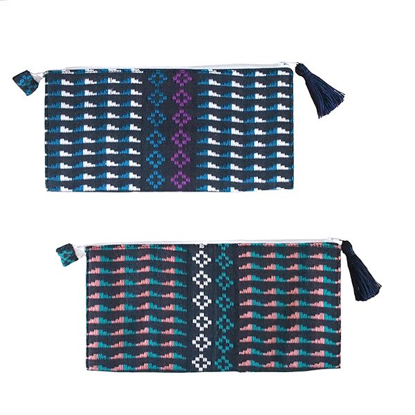 ベトナム 少数民族 ターイ族 手織り 長財布 ウォレット B
