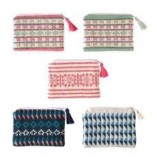 民族の刺繍 ベトナム 少数民族 ターイ族 手織り 小銭入れ ミニパース