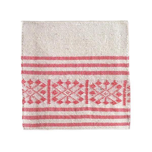 ベトナム 少数民族 ターイ族 手織り布 コースター【画像2】
