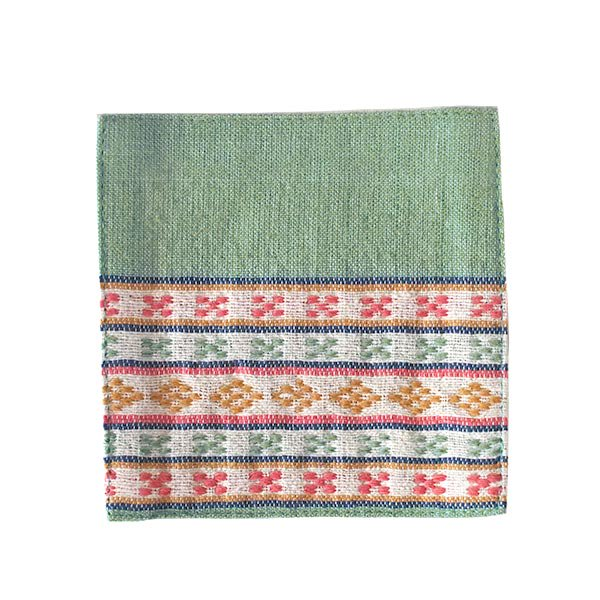 ベトナム 少数民族 ターイ族 手織り布 コースター【画像3】